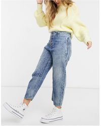 Free People Osaka Relaxed Straight Leg Jeans - Blue
