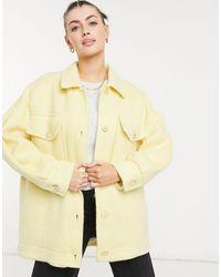 Mango Brushed Shacket - Yellow