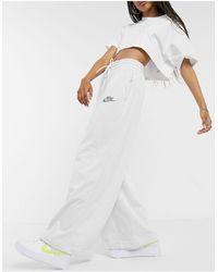 Nike Revival Wide Leg Sweatpants - White