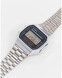 G-Shock Цифровые Часы-браслет В Стиле Унисекс A168wa-1yes-серебристый - Металлик