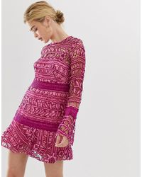 Talulah Caprice - Robe courte en dentelle - Rose