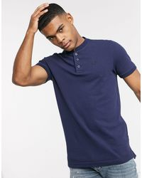 Hollister Banded Collar Polo - Blue