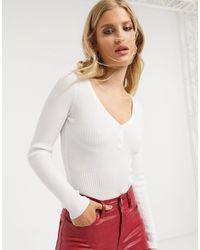 Bershka Ribbed Body - White