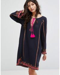 Star Mela - Valeska Embroidered Dress - Lyst