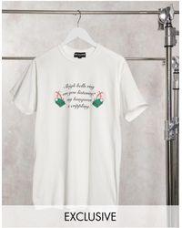 New Girl Order Xmas Sleigh Bells Graphic T-shirt - White