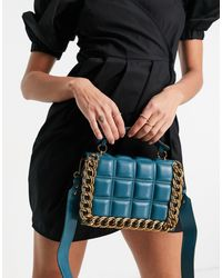 TOPSHOP Quilted Chain Cross-body Bag - Black
