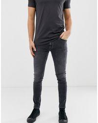 Nudie Jeans Co Skinny Lin Skinny Fit Jeans In Shimmering Grey Power Wash - Gray