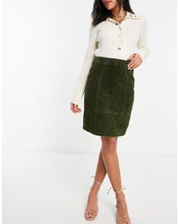 Vila - Real Suede Pencil Skirt - Lyst