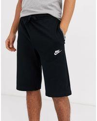 Nike Черные Трикотажные Шорты -черный