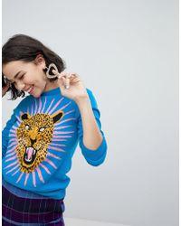 Monki - Jaguar Knitted Jumper - Lyst