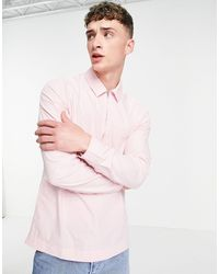 ASOS Overhead Washed Poplin Rugby Shirt - Pink