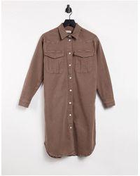 SELECTED Коричневый Джинсовый Oversized-шакет Femme-коричневый Цвет