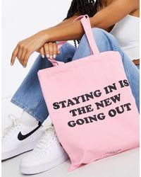 Skinnydip London Canvas Tote Bag - Pink