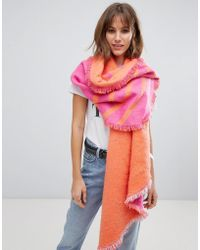 Esprit - Double Sided Scarf In Pink - Lyst