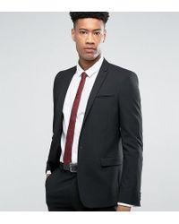 ASOS Tall Skinny Suit Jacket In Black