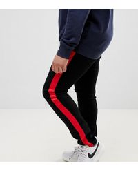 27825169a5 Sixth June - Super Skinny Jeans In Black With Red Side Stripe Exclusive To  Asos -