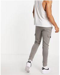 New Look Joggers skinny multitasche grigi - Grigio