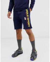 Polo Ralph Lauren Pantalones cortos de chándal con logo deportivo retro en azul marino capsule