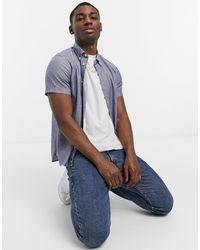 Tommy Hilfiger Slim Flex Dobby Short Sleeve Shirt - Blue
