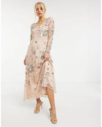 Frock and Frill Vestido largo con adornos - Multicolor