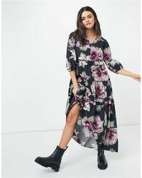 SELECTED Floral Midi Dress - Multicolour