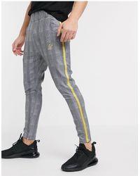 SIKSILK Slim Trousers - Grey