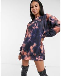 New Girl Order Tie Dye Logo Jumper Dress - Blue