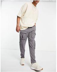 ASOS 4505 Jogger slim à poches style cargo - Gris