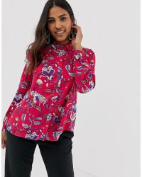 Vila - Floral Oversize Shirt - Lyst