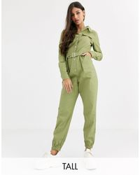 Missguided Utility Jumpsuit - Green