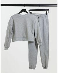 Pull&Bear Floral Mesh Insert Skater Dress - Grey