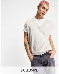 Reclaimed (vintage) Inspired – Sweatshirt-Trägertop aus Bio-Baumwolle - Mehrfarbig