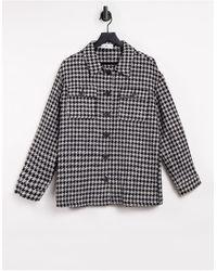 Mango Overshirt Shacket - Black