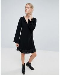 Pepe Jeans - Janet Flared Long Sleeve Dress - Lyst