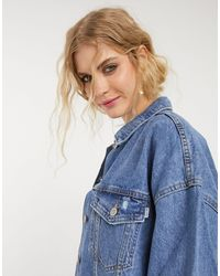Bershka Oversized Denim Jacket - Blue