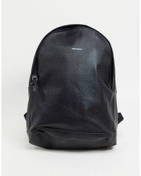 ASOS - Черный Рюкзак Из Искусственной Кожи С Тисненым Логотипом - Lyst