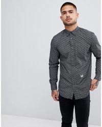 DIESEL - S-dunes All Over Print Shirt In Black - Lyst
