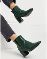 Glamorous Heeled Chelsea Boots - Green