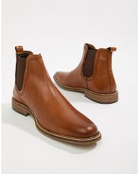 Dune - Chelsea Boots In Tan Leather - Lyst