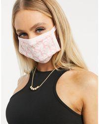 Sixth June - Masque en tissu à imprimé monogramme - Lyst