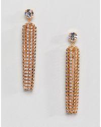 Krystal London - Swarovski Crystal Gold Statement Drop Earrings - Lyst