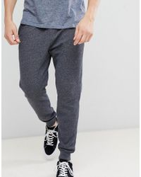Hollister - Core Icon Logo Cuffed jogger In Washed Black Marl - Lyst