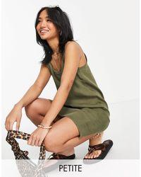 Noisy May Lightweight Denim Cami Dress - Green