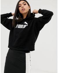 PUMA - Худи Черного Цвета С Логотипом Essentials-черный - Lyst