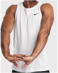 Nike Camiseta sin mangas con logo en blanco