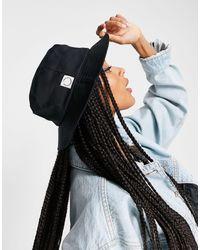TOPSHOP Cotton Tab Bucket Hat - Black