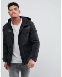 New Look Tech Parka Jacket In Black