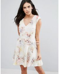 French Connection - Tiger Shark Skater Dress - Lyst
