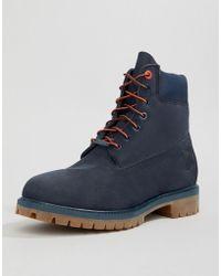 Timberland Hochwertige Stiefel, 6 Zoll, navy - Blau