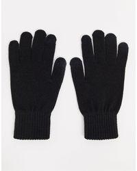 Jack & Jones Черные Вязаные Перчатки -черный
